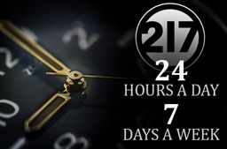 217 inc. HVAC - 24 hours a day, 7 days a week